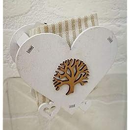 10 PEZZI Scatola cuore legno portaconfetti con albero della vita BOMBONI
