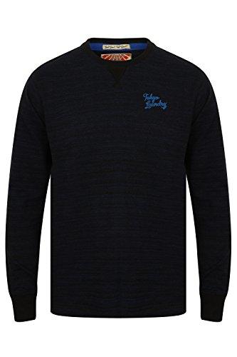 Tokyo Laundry Herren Blusen Langarmshirt Underwood - Sapphire Black