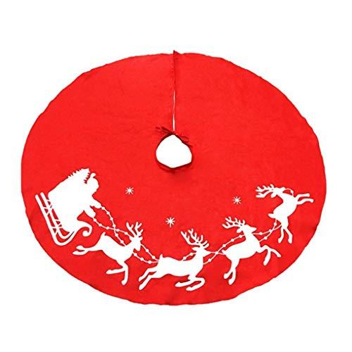 Aiming 100cm no Tejidas Ciervos Navidad Falda árbol