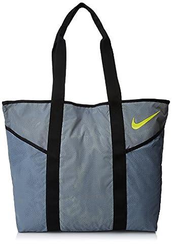 Nike Women Azeda Tote Bag - Cool Grey/Black/Opti Yellow, N/A