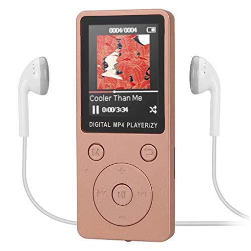 Jamicy® MP3 Player 6 Stunden Wiedergabe Portable Klang Musik Player Erweiterbar auf bis zu 32 GB mit Kopfhörer 1,8-Zoll-TFT-Display, FM Radio Voice Recorder (Rose Gold) - Herren-erweiterbar-uhr Bänder