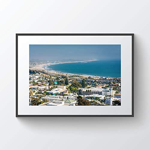 C-US-lmf379581 View of Downtown Ventura and The Pacific Coast from Grant Park In Ventura California Photo Print Metal Canvas Framed