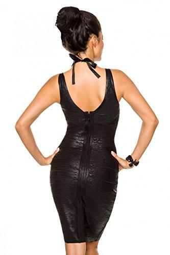 Echtes Bandage-Shape-Kleid Schwarz