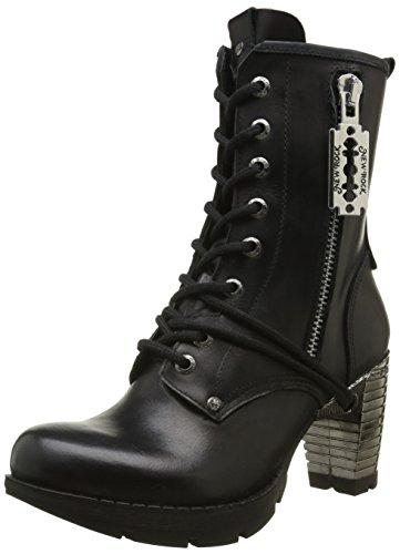 New Rock M Tr028 S1, Bottes Motardes Femme Noir (Black)