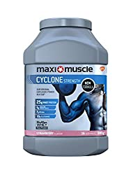 Maximuscle Cyclone Whey Protein & Creatine Powder, Strawberry, 980 G