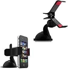 Gioiabazaar Premium 360 ° Degree Rotable Car Mobile Holder Windshield Dashboard Mobile/GPS Suction Holder Stand