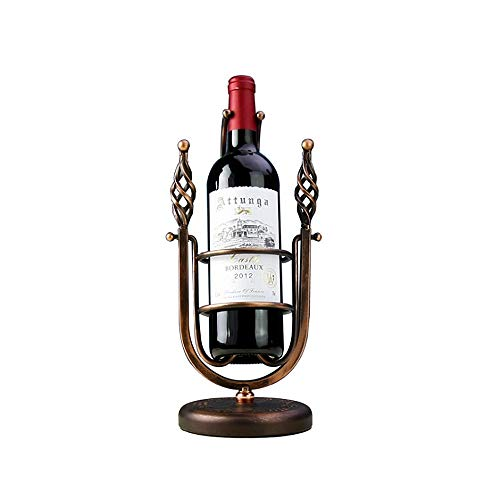 Insert Porte-Tasses métal Vin Stemware étagère Support de bouteille de vin de table en métal de style rétro support de support de support de stockage de vin sur pied baroque Vintage couleur cuivre