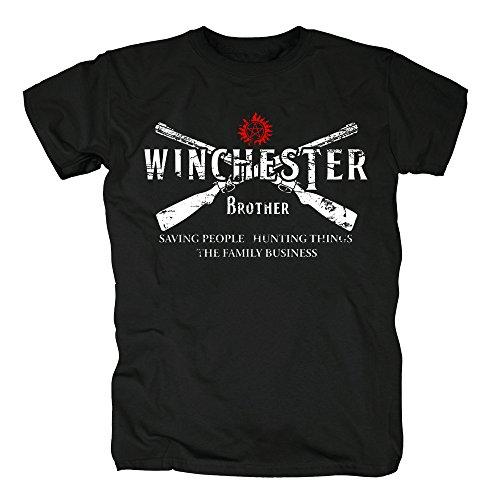 TSP Winchester Bros 2 Guns T-Shirt Herren XXXL (Kostüme Für 2 Bros Den Halloween)