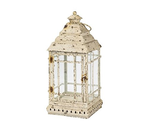 Lanterne en fer blanc antique