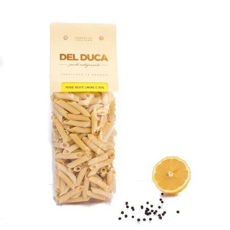 Penne Rigate di Semola di Grano Duro al Limone e Pepe 500g Pastificio Del Duca Box of 6 pieces Puglia Made in Italy