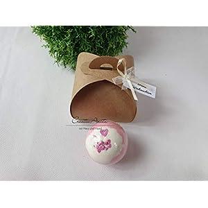 Badekugel – Cherry Pie mit toller Geschenkverpackung – Kraftpapier