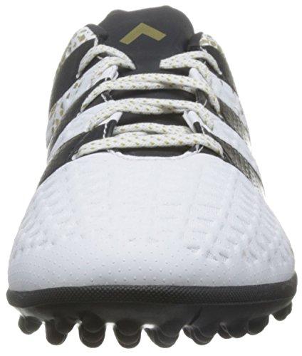 adidas Ace 16.3 Tf, Scarpe da Calcio Uomo Bianco (Ftwr White/core Black/gold Met.)