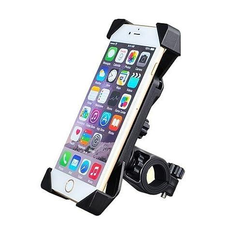 Bike Mount Banque, Odier 3,5in zu 7in Handy Halterung Fahrrad Motorrad Lenker Handy Halterung für iPhone 6S Plus 5S Samsung Galaxy S7S6Google Nexus 5Huawei Mate LG 360Grad drehbar (5 Attach Fall)