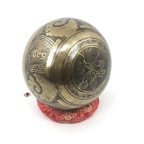 Om Buddha Gebet Mantra für Yoga und Sound Heilung handliche Größe tibetische 7 Metall Klangschale Set (Gehirn ändern Therapie)