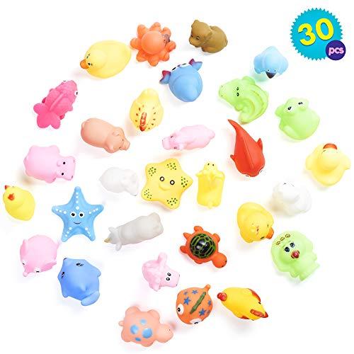 Set di 30 animali da fattoria galleggianti dai colori vivaci Ideale per divertirsi bagno piscina ecc. Include una grande varietà di giocattoli