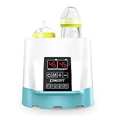 Idea Regalo - Multifunzione Scalda Biberon Elettrico / Sterilizzatore / Riscaldatore di cibo, Disegno SUMGOTT Doppie Bottiglie Termostato intelligente Scaldino 5 in 1 con display in tempo reale a LCD