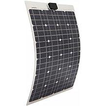 ECO-WORTHY 40 Watts Semi-Flexible Monocrystalline PV Solar Panel for Marine RV Boat Battery Charging 12V System