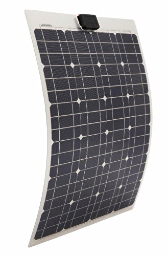 ECO-WORTHY 40 Watts Semi-Flexible Monocrystalline PV Solar Panel for Marine RV Boat Battery Charging 12V System -
