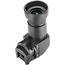 Neewer 1,25x-2,5x Visor de ángulo recto con 8 adaptadores de montaje para Canon, Nikon, Sony, Pentax, Panasonic, Minolta, Leica y otras cámaras digitales DSLR