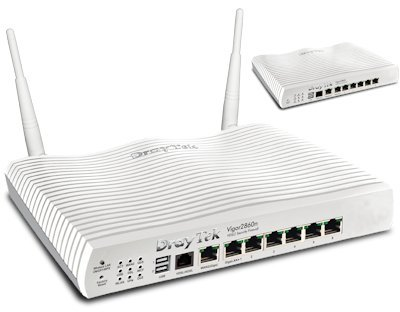 Price comparison product image DrayTek Vigor 2860N VDSL / ADSL Router Firewall with Wireless N & 6 Gigabit Ports & 3G