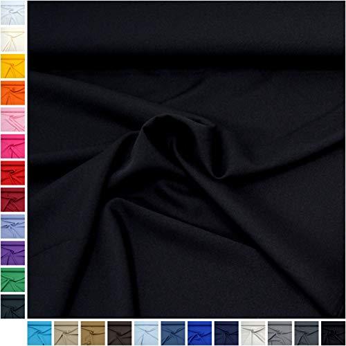 Schwarze Kostüm Gute Jungs Für - MAGAM-Stoffe Mara Allround Stoff Blickdicht Knitterarm Kostüm Tischdecken Dekostoff (24. Schwarz*)