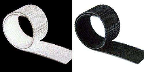 Back to Back Klettband Kabelbinder Schwarz oder Weis 14 mm Breit (1 M Lfm € 2,89 Weis, 14 mm)