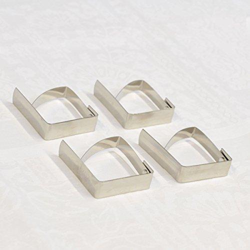 Nappe Clips en acier inoxydable x 4