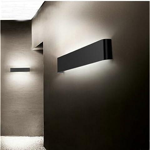 LYNDM 14W lámparas de pared espejo del baño luz 410mm de aluminio blanco o negro2835 Lámpara de pared AC 85V~265V Q-33,