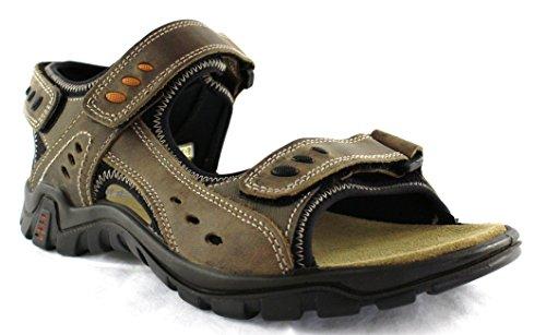 3 X Touch Deluxe-sandales Pour Femmes Avec Fermeture, Couleur: Brun Marron