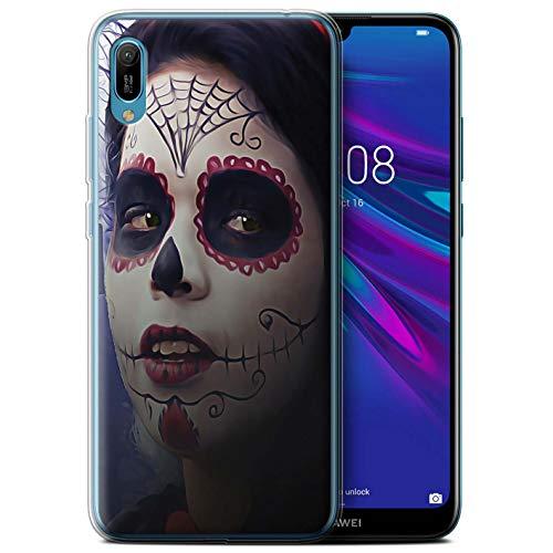 eSwish Gel TPU Hülle/Case für Huawei Y6/Prime/Pro (2019) / Halloween Bilden Muster/Tag Der Toten Festival Kollektion (Toten Tag Der Halloween-2019)
