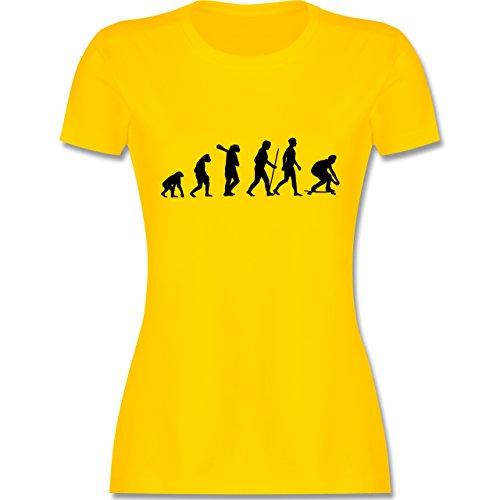 Evolution - Skateboard Evolution - tailliertes Premium T-Shirt mit Rundhalsausschnitt für Damen Gelb
