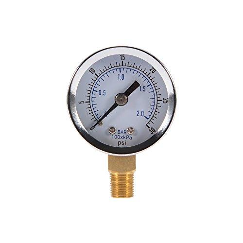 "Kreema Druckmesser 0-2Bar 0-30PSI Messbereich Manometer 40mm 1.5\"" Dial Pneumatische Hydraulik Meter"
