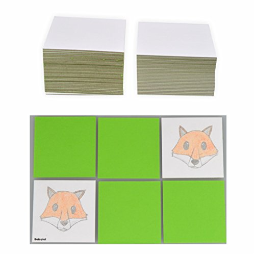Blanko Legekarten 6x6cm, 60 Karten weiß Memory Karten -