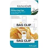 Kitchen Craft - Juego de pinzas para bolsas (tamaño mediano, 2 unidades, colores variables)