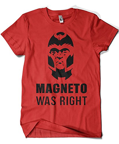 Camisetas La Colmena 2141-Parodia Magneto Was Right (Demonigote)