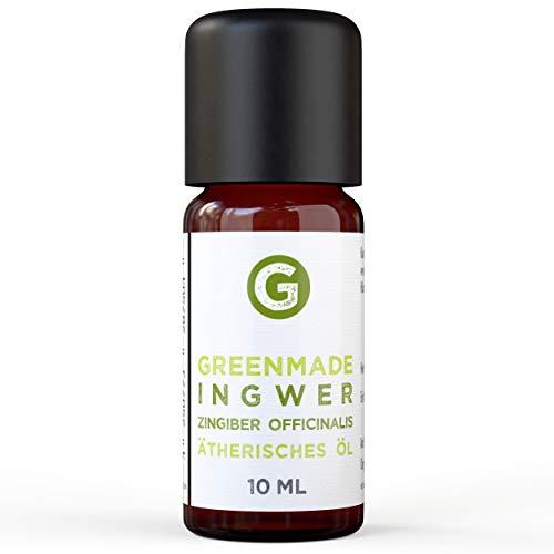 Ingwer Öl - 100{60c752b5f0febcfdea7a3ba6827245a039e403914ea12859a28ad9f9b59badd0} naturreines, ätherisches Öl (10ml) von greenstyle