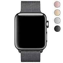 Leehur Newest Milanese Apple Watch Band Loop Strap For 38mm Apple Watch Series 1 Series 2