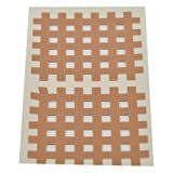 Kinesiologie Gittertape 5,2 cm x 4,4 cm 20 Bögen in Beige, Cross Patches, Cross Tape