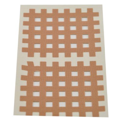 Ks Kinesiologie Gittertape 5,2 cm x 4,4 cm 20 Bögen in Beige, Cross Patches, Cross Tape -