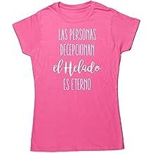 HippoWarehouse Las Personas Decepcionan, El Helado Es Eterno camiseta manga corta ajustada para mujer
