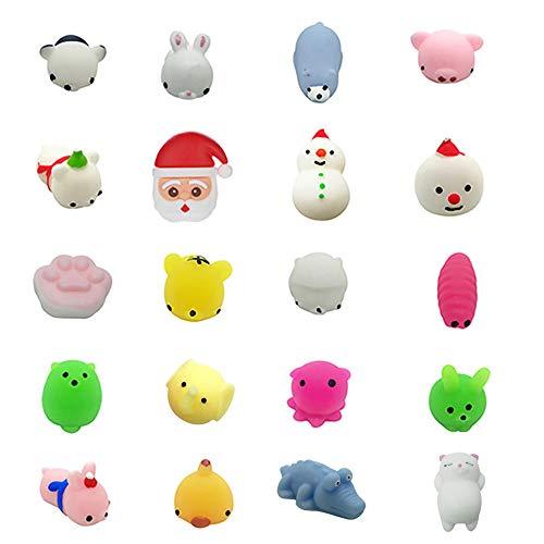 TianranRT 20PC Weihnachten Spielzeug Mini Niedlich Squeeze Lustig Spielzeug Weiche Stress Erleichterung Spielzeug DIY ()