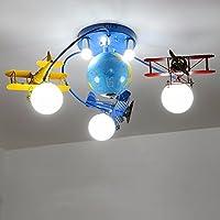Zimmer Flugzeuge Deckenleuchte Schlafzimmer Lampe Jungs Der Amerikanischen  Retro Kinder Zimmer LED Beleuchtung Ideen,