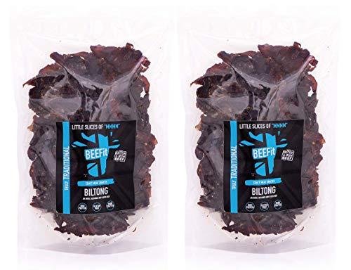1 KG (2x500g) TRADITIONELLE BILTONG preis gewonnenes BILTONG. Gluten & ZUCKER Frei, hoher Proteingehalt, PALEO, DIET Beef Jerky. Auch in 500g 250g Peri Peri, BBQ