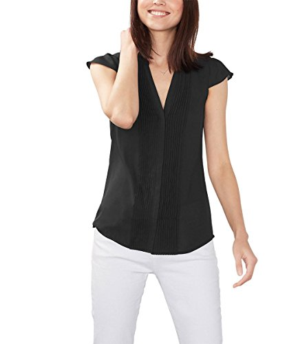 ESPRIT 076EE1F017, Camicia Donna, Nero (BLACK), 36