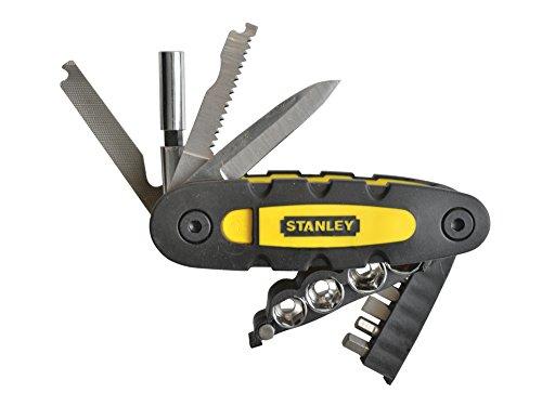 Stanley 14-in-1 Multifunktionswerkzeug (enthält Steckschlüssel, Bits, Messerklinge, Feile, Säge und Flaschenöffner, kompaktes Klappdesign, leichte Auswahl des benötigten Werkzeugs) STHT0-70695