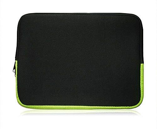 Sweet Tech Schwarz/Grün Neopren Hülle Tasche Sleeve Case Cover geeignet für Fujitsu LifeBook Tablet T935 13.3 Zoll (13-14 13-14 Zoll Laptop)