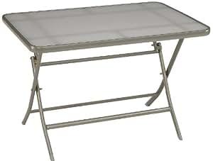 Stern 416467 Balkonklapptisch, Gestell graphit, Glasplatte, grau