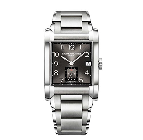 baume-mercier-mens-automatic-watch-with-black-dial-analogue-display-and-silver-stainless-steel-brace