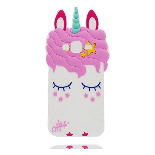 Samsung Galaxy J3 2016 Custodia, Cartone Animato Carino Fantasy Shy 3D o Cavallo Case Morbida per Cellulare in Silicone Copertura per Samsung Galaxy J310/ j3 2016 (Versione 2016)