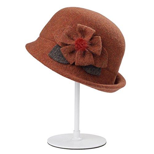 donna piccolo cappello/Cupola Inghilterra vento cappello/ cappello di lana-A Unica